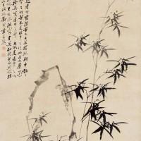 郑板桥1756年作《竹石图》