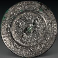 唐代海兽葡萄铜镜
