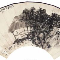 陈半丁1959年作《临流沉吟图》 行书