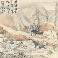 陈半丁1924年作《临石涛黄山八景》 (八开册)