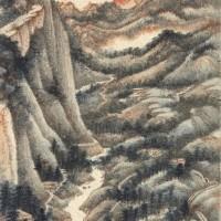 张大千1948年作 《味江》 镜框