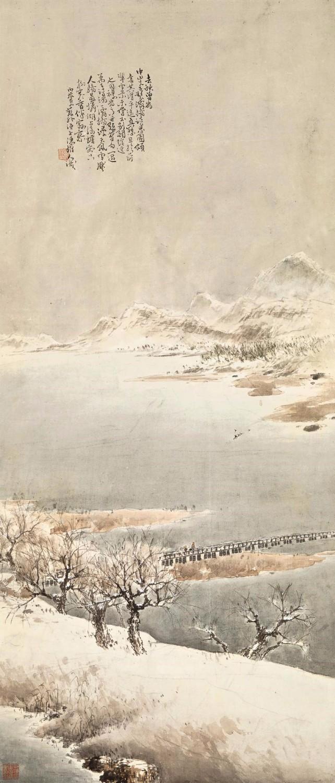 陈树人(1884-1948)1916年作《灞桥诗思图》
