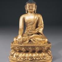 明永乐铜鎏金释迦牟尼像