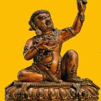 明永乐黄铜鎏金毗卢巴像
