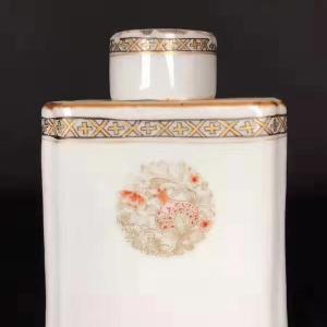 清乾隆矾红描金瓜果纹茶叶罐交易价格