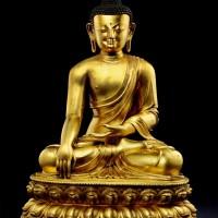 元或明早期铜鎏金释迦牟尼