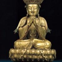 明16世纪鎏金铜大日如来坐像