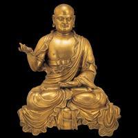 明铜鎏金苏频陀尊者像