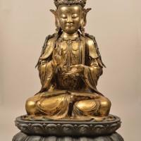 明15世纪铜鎏金宝冠菩萨坐像