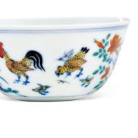 清康熙斗彩鸡缸杯