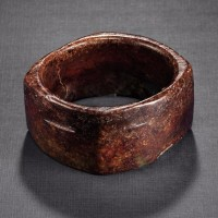 新石器时代至周 约公元前6500-256年 玉镯形琮