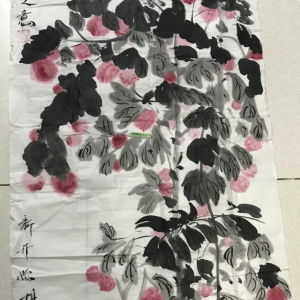 著名画家胡波荔枝图,真迹交易价格