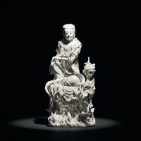 清乾隆 德化白瓷观音坐像