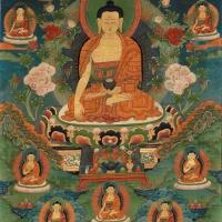 18世纪释迦牟尼唐卡