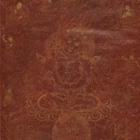 17世纪大黑天红卡唐卡