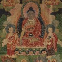 8世纪释迦牟尼一佛二弟子唐卡