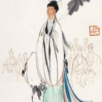 李琼久 群仙拜寿 人物画