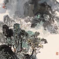 邱笑秋 青城天下幽山水画