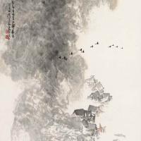 李文信 晨雾图