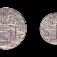 民国二十一年福建省造黄花冈纪念壹角、贰角银币各一枚