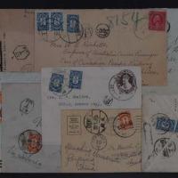 1922-1940年国外寄国内欠资封一组九件
