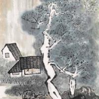 陈寿岳 读书图
