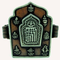 19世纪 铜包银嘎乌盒