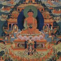 19世纪 阿弥陀佛极乐世界