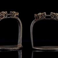 16-18世纪 铁剪金马镫