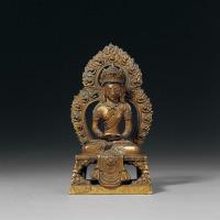 清乾隆 铜鎏金无量寿佛坐像