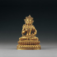 明永乐 铜鎏金金刚萨埵坐像