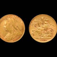 1898年英国金币一枚