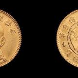 1919年唐继尧像拥护共和纪念壹角金币一枚