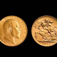 1906年英国金币一枚