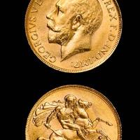 1920年英国金币一枚