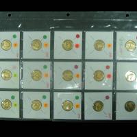1982-1996年中国人民银行1/10盎司熊猫金币一组十五枚