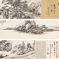 黄西爽  南山松柏第一、第二图