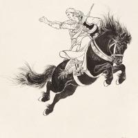 刘继卣  《中国民间故事——猎人传》插图