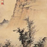 黄君璧  溪桥策杖