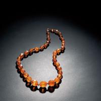 清 琥珀珠串