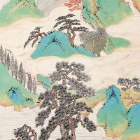 黄巘  松阴瀑泉