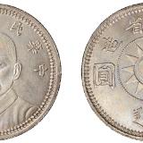 民国十七年甘肃省造孙中山像壹圆银币一枚