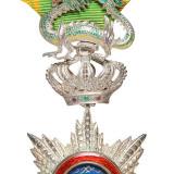 清法属安南皇国二等青龙勋章一枚
