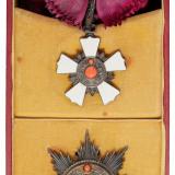 清代清廷委托法国代制第二等第一级御赐双龙宝星勋章大绶绶章、挂章全套二枚