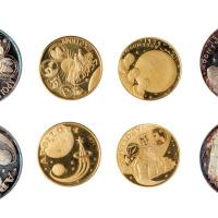 1969年富查依拉酋长国铸造美国登月纪念银币一套
