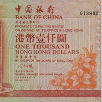 1994年中国人民银行发行港币钞票纪念册一套五枚