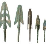 战国青铜箭头一组二十五枚
