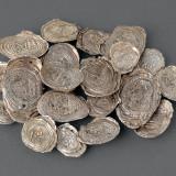 明代螺纹银锭一组二十枚