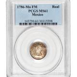 1786年西属墨西哥1R银币一枚