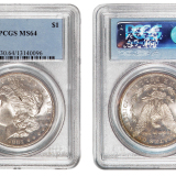 1881年美国摩根银币一枚